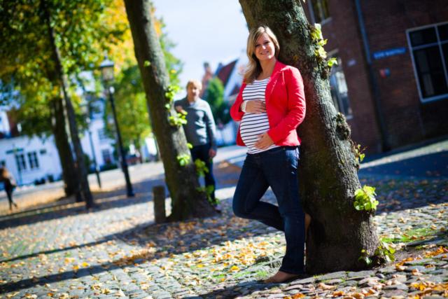 Zwangerschapsshoot in het centrum van Harderwijk